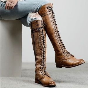 Bed Stu | Tall Della Lace Up Leather Boots sz 6